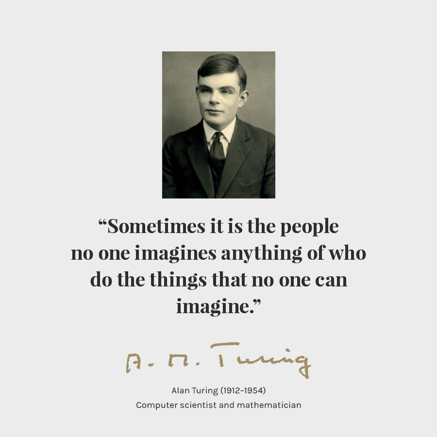 Alan Turing Poster Quote