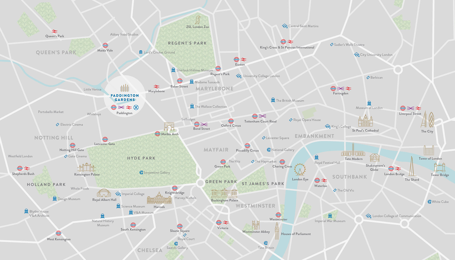 London W2 Location Map